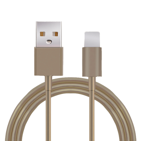 Lightning / USB-kabel iOS goud