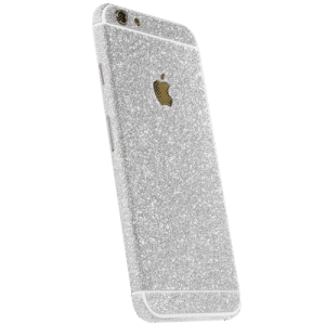 Glitter Sticker Zilver iPhone 6 / 6s