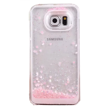 Hartjes Glitter Hoesje Galaxy S6