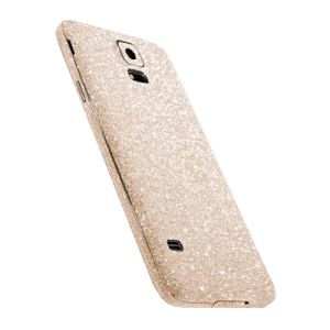 Glitter Sticker Goud Galaxy S5