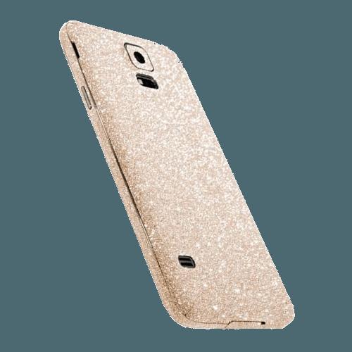 Glitter Sticker Goud Galaxy S5