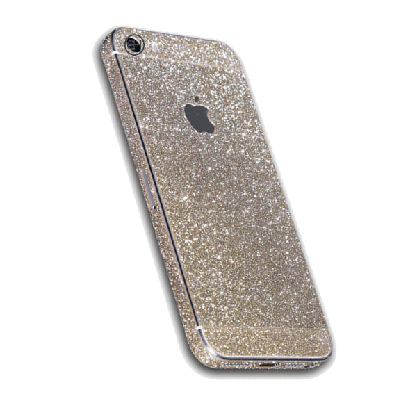 Glitter Sticker Goud iPhone 5 / 5s / SE