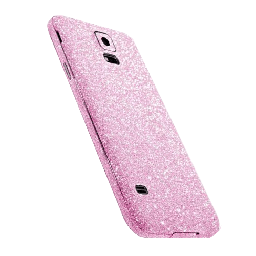 Glitter Sticker Roze Galaxy S5