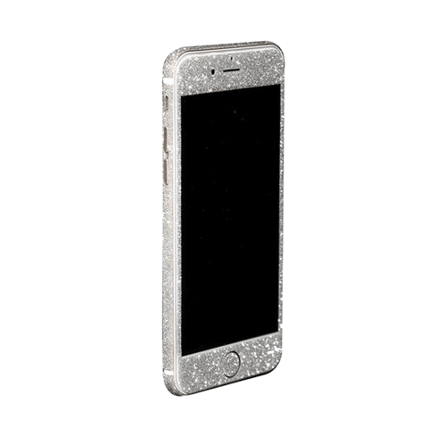 Glitter Sticker Zilver iPhone 6 / 6s Plus