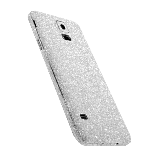 Glitter Sticker Zilver Galaxy S5