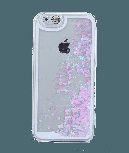 Hartjes Glitter Hoesje iPhone 6 Plus / 6s Plus