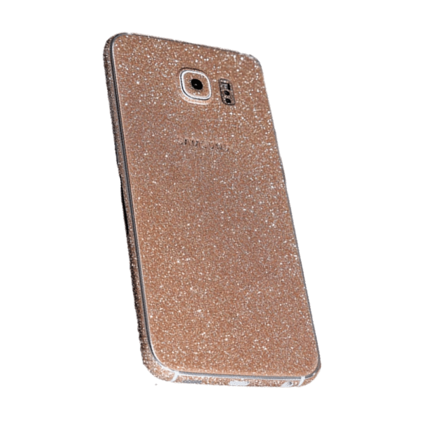 Glitter Sticker Goud Galaxy S6