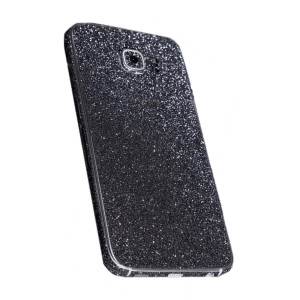 Glitter Sticker Zwart Galaxy S6