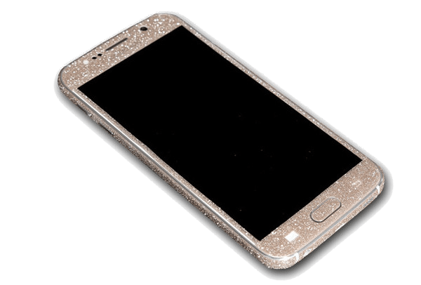 Glitter Sticker Goud Galaxy S6