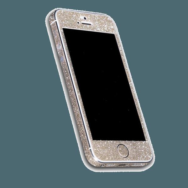 Glitter Sticker Goud iPhone 5 / 5s / SE