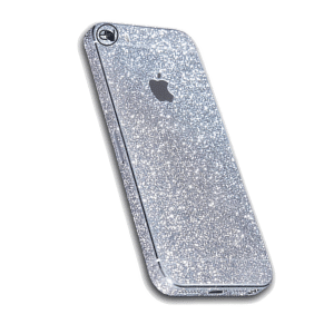 Glitter Sticker Zilver iPhone 5 / 5s / SE