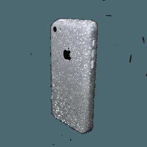 Glitter Sticker Zilver iPhone 5C