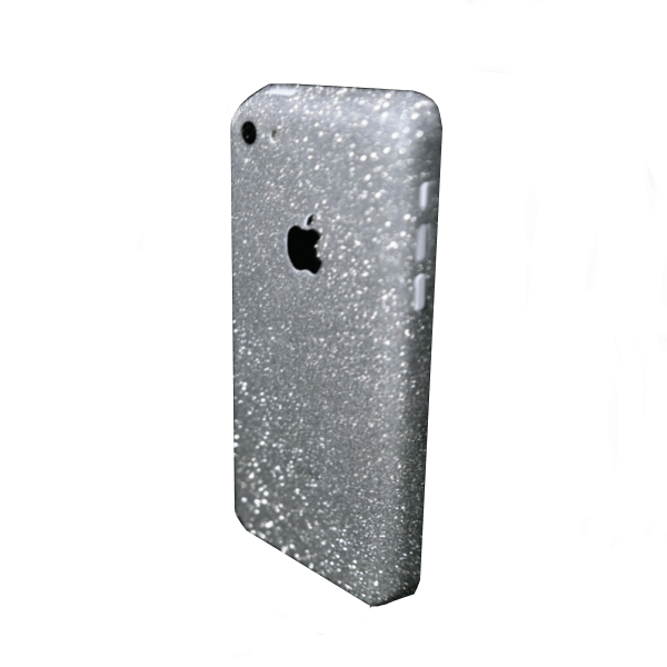 Glitter Sticker Zilver iPhone 5C