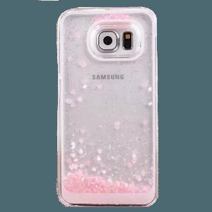 Hartjes Glitter Hoesje Galaxy S6 Edge