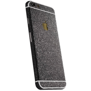 Glitter Sticker Zwart iPhone 6 / 6s