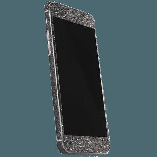 Glitter Sticker Zwart iPhone 6 Plus / 6s Plus