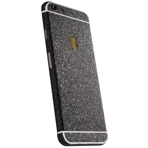 Glitter Sticker Zwart iPhone 6 Plus / 6s Plus