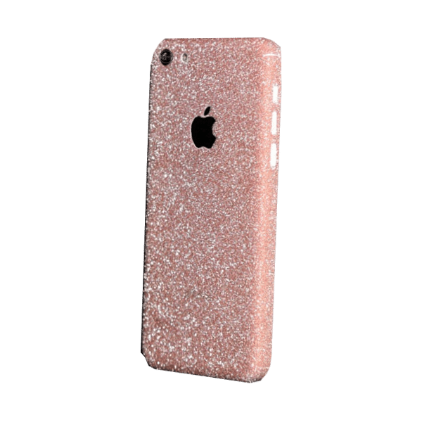 Glitter Sticker Roze iPhone 5C