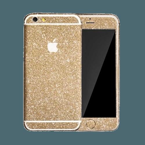 Glitter Sticker Goud iPhone 5C