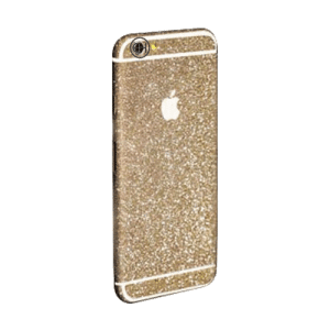 Glitter Sticker Goud iPhone 5C