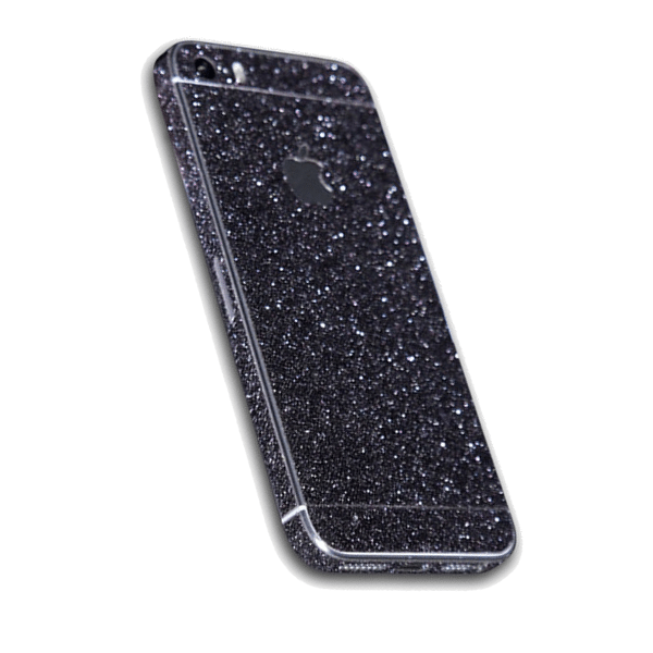 Glitter Sticker Zwart iPhone 5 / 5s / SE