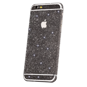 Glitter Sticker Zwart iPhone 5C