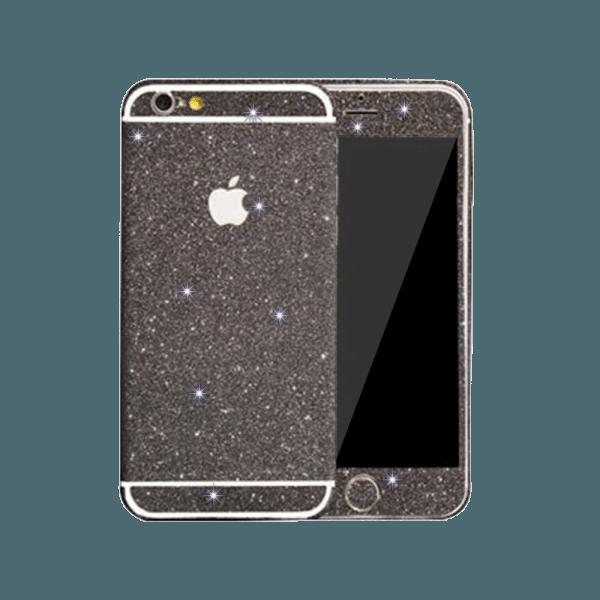 Glitter Sticker Zwart iPhone 5C