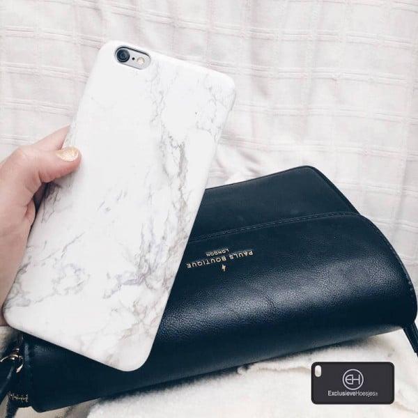 Marmer Hoesje Wit iPhone 6 Plus / 6s Plus