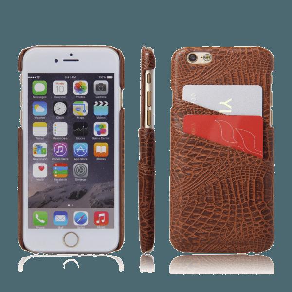 Pashouder Hoesje Bruin iPhone 6 Plus / 6s Plus