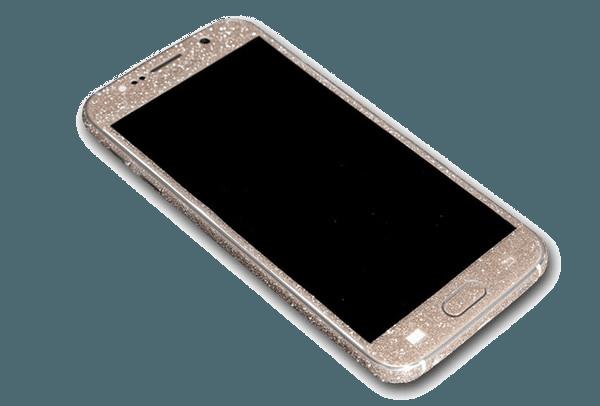 Glitter Sticker Goud Galaxy S6 Edge Plus