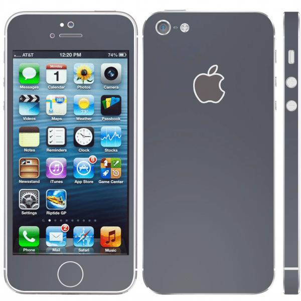 Mat Zwarte Sticker iPhone 5 / 5s / SE