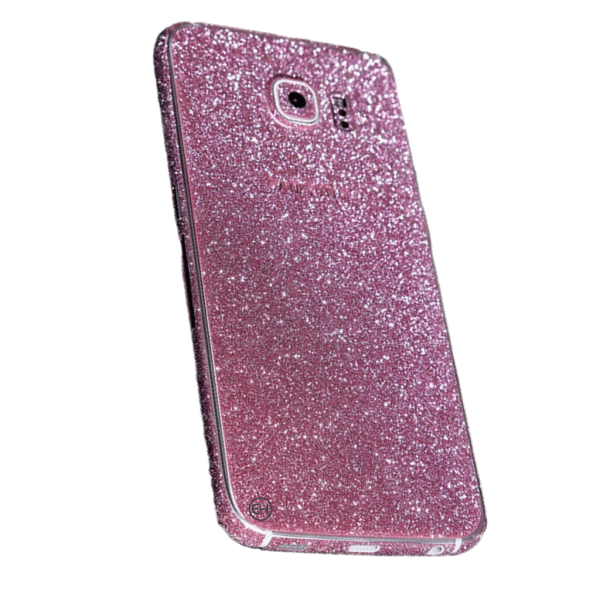 Glitter Sticker Roze Galaxy S7 Edge