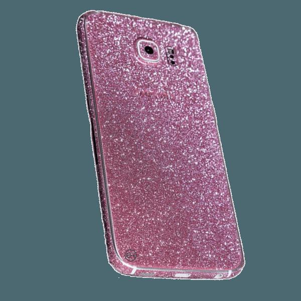 Glitter Sticker Roze Galaxy S7