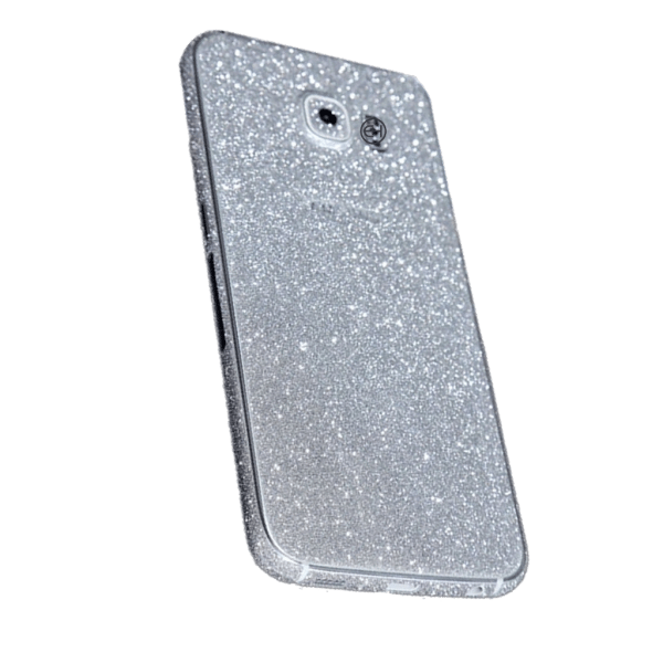Glitter Sticker Zilver Galaxy S7