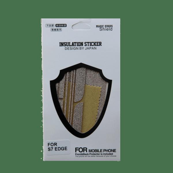 Glitter Sticker Goud Galaxy S7 Edge