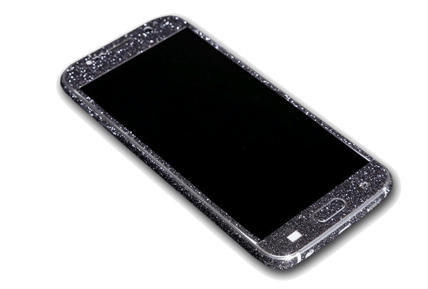Glitter Sticker Zwart Galaxy S7 Edge