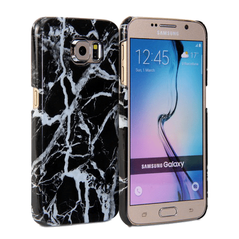 Marmer Hoesje Zwart Galaxy S7
