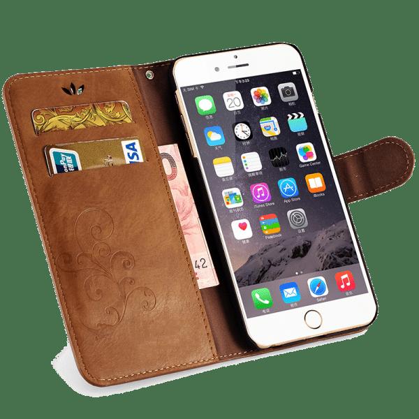 Boek Hoesje Lichtbruin iPhone 7 Plus