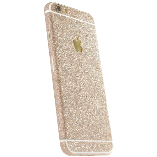 Glitter Sticker Goud iPhone 7 Plus