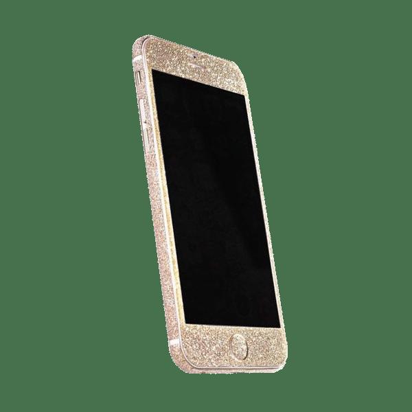 Glitter Sticker Goud iPhone 7 Plus