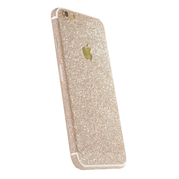 Glitter Sticker Goud iPhone 7