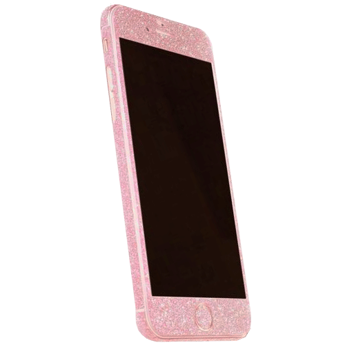 Glitter Sticker Roze iPhone 7 Plus