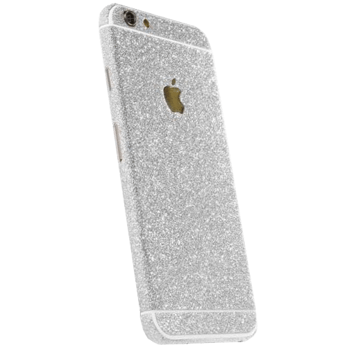 Glitter Sticker Zilver iPhone 7 Plus