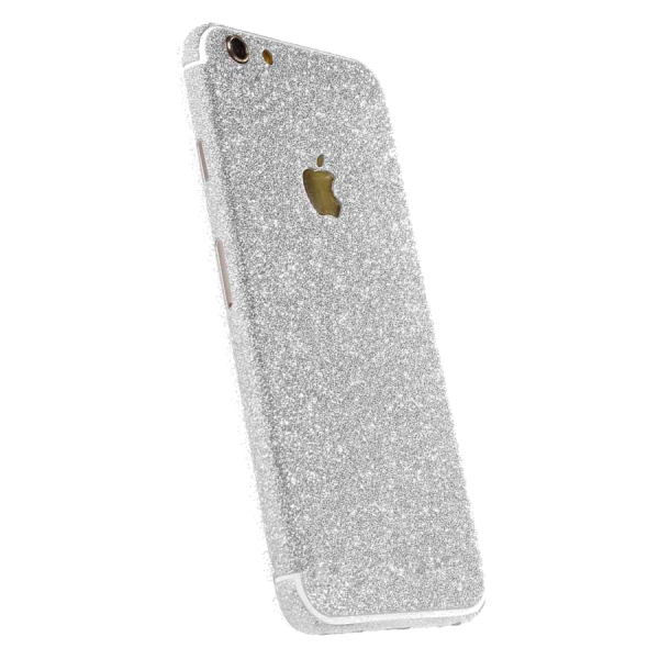 Glitter Sticker Zilver iPhone 7