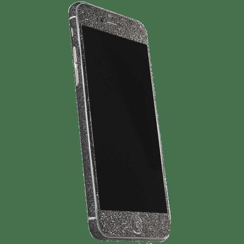 Glitter Sticker Zwart iPhone 7 Plus