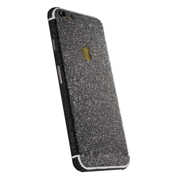 Glitter Sticker Zwart iPhone 7