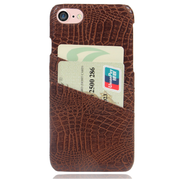 Pashouder Hoesje Bruin iPhone 7