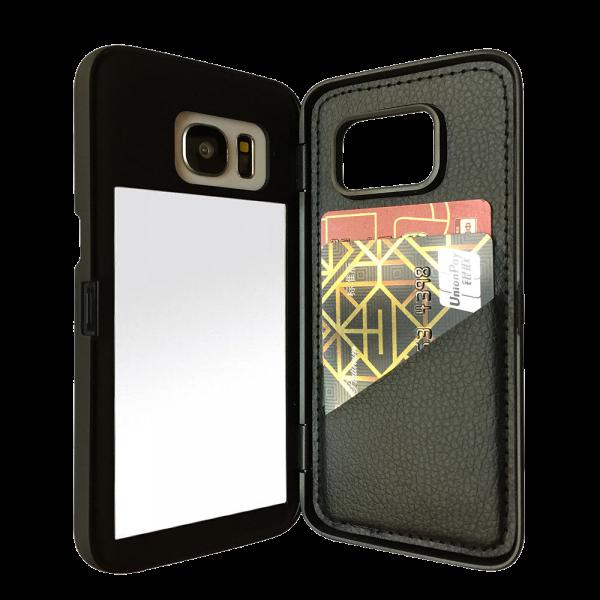 Spiegel Hoesje Zwart Galaxy S7 Edge