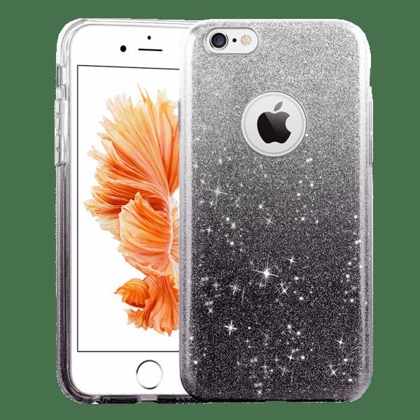 Glitter Hoesje Zwart iPhone 6 / 6s