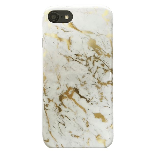 Marmer Hoesje White&Gold iPhone 7